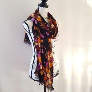 Isaac Mizrahi Live Floral Scarf/Wrap